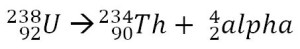 U238_alpha-decay_equation