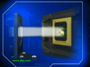DLP_Chip_reflecting_courtesy_Texas_Instruments