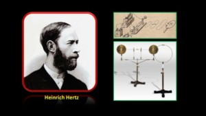 Heinrich_hertz_and_apparatus_(from_Spark_Museum)