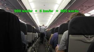 relative_velocity_ofwalking_on_plane